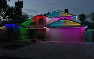 Multi-color trinlight display