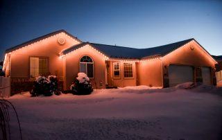 soft white christmas lights installed in Sacramento